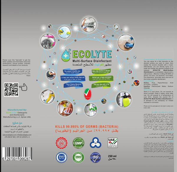 Ecolyte Multi-Surface Disinfectant 500ml