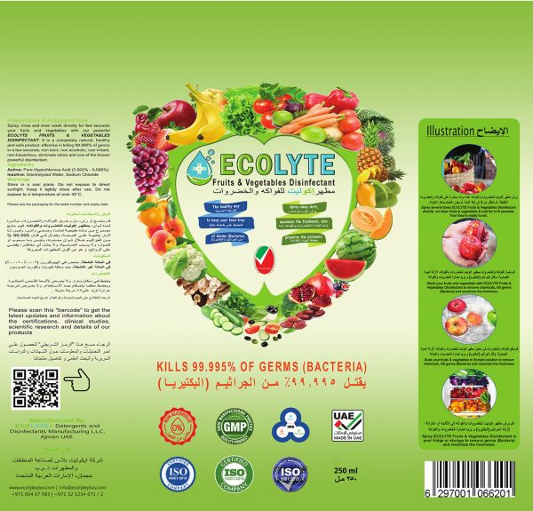 Ecolyte Fruits & Vegetable Disinfectant