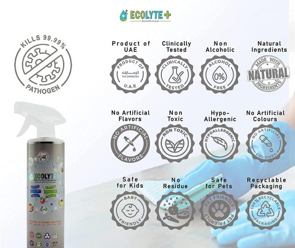 ECOLYTE AL IN ONE DISINFECTANT BUNDLE 500ML 1
